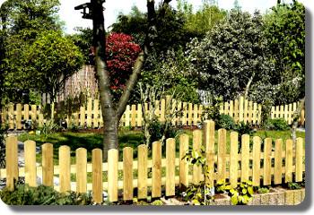 Ihr Gartenzaun Aus Holz Zaunfelder Tor Tür Sichtschutz Staketen