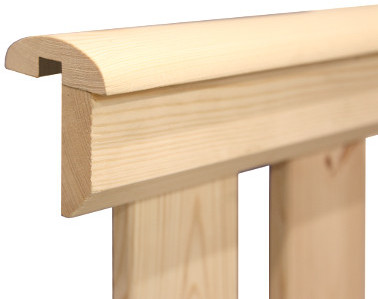 Holz Geländerzaun Premium Einzelteile Zaun Balustrade Brüstung