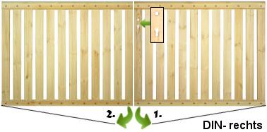 Fabulous Holz-GeländerTor ab 139EUR, Gartentor Extra Stabil mit Handlauf DZ59