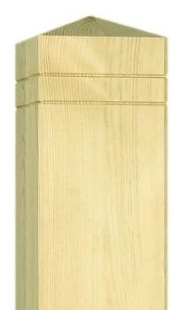 holzpfosten premium 14x14cm pyramide ab 28 99eur f r. Black Bedroom Furniture Sets. Home Design Ideas