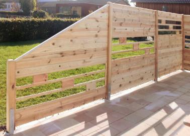 Bekannt Lamellen aus Holz für SichtschutzZaun, Lamellenzaun oder Zierzaun ZR64