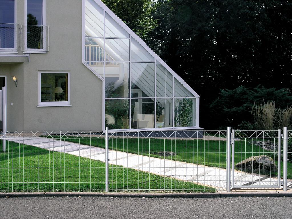 doppelstabmatten zaunfeld nexus stahl beschichtet ab 49 99eur. Black Bedroom Furniture Sets. Home Design Ideas